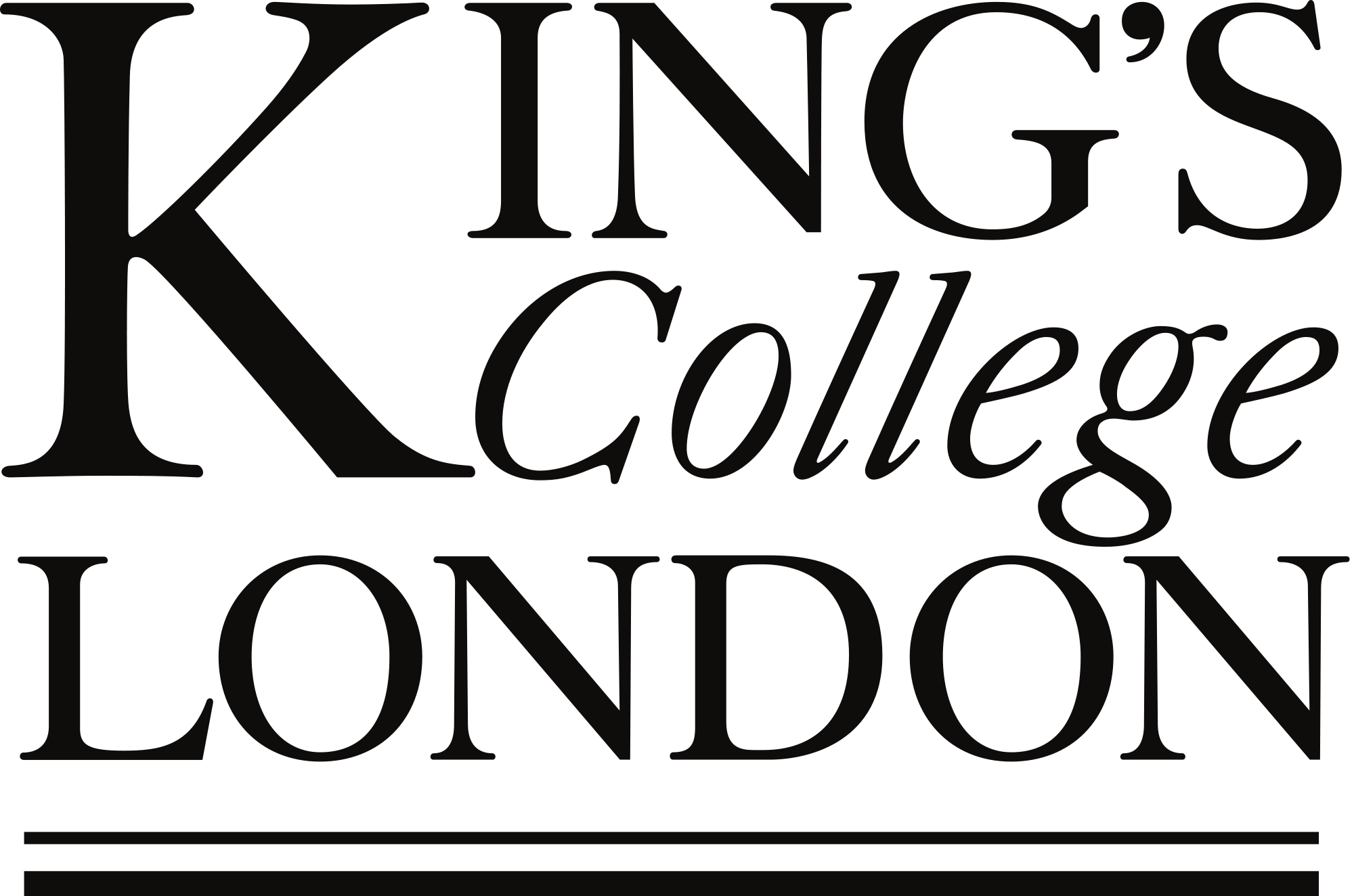 King's College London logo, a partner of Charisma.ai.